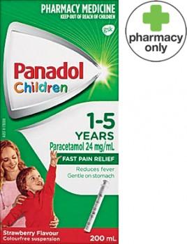 Panadol-Children-1-5-Years-Strawberry-Flavour-200mL on sale