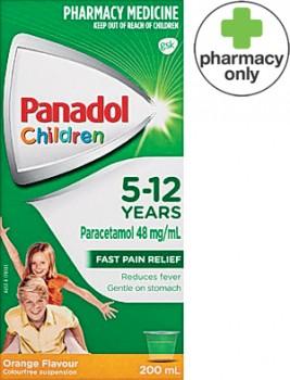 Panadol-Children-5-12-Years-Orange-Flavour-200mL on sale