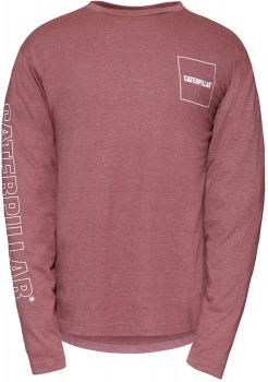 CAT-Drop-Tail-LS-Logo-T-Shirt on sale