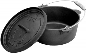 Pioneer-Pre-Seasoned-Camp-Oven-9-QT on sale