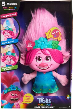Trolls-World-Tour-Paint-with-Poppy-Feature-Plush on sale