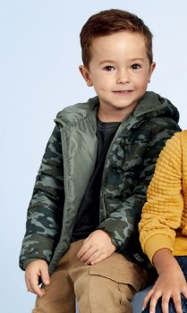 K-D-Camo-Puffer-Jacket-with-Hood on sale