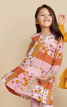 K-D-Patchwork-Print-Dress on sale