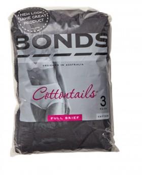 Bonds-3-Pack-Womens-Cottontails-Briefs-Black on sale