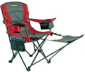 OZtrail-Camp-Chair-with-Foot-Stool on sale