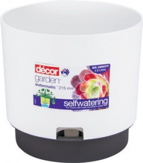 Dcor-Self-Watering-Plant-Pots-215mm-White on sale