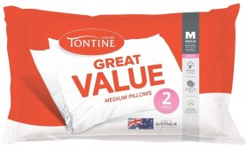 50-off-Tontine-Great-Value-Standard-Pillows-2-Pack on sale