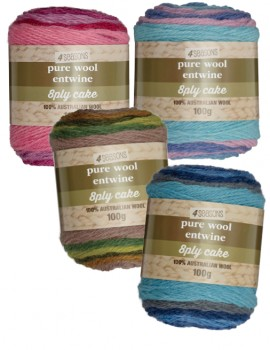 30-off-4-Season-Pure-Wool-Entwine-Cakes-100g on sale