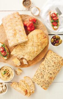 Coles-Bakery-Stone-Baked-by-Laurent-Turkish-Focaccia-or-Ciabatta-Loaf on sale