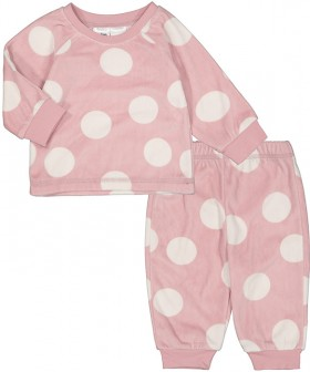 Infant-Printed-Fleece-Pyjama-Set-Spot on sale
