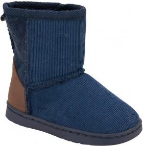 Junior-Slipper-Boots-Navy on sale
