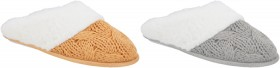 Womens-Cable-Knit-Scuffs on sale