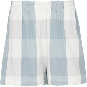 Womens-Flannel-Shorts on sale