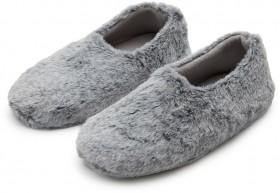 Brilliant-Basics-Womens-Fluffy-Scuff-Slippers-Grey on sale