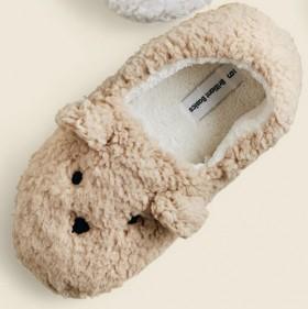 Brilliant-Basics-Womens-Bunny-Scuff-Slippers-Beige on sale