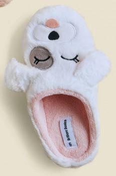 Brilliant-Basics-Womens-Novelty-Slippers-White on sale