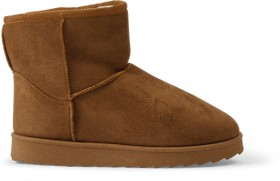 Brilliant-Basics-Womens-Outdoor-Slipper-Boots-Chestnut on sale