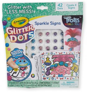Trolls-World-Tour-Glitter-Dots-Sparkle-Signs on sale