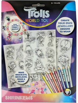 Trolls-World-Tour-Create-Your-Own-Jewellery-Shrinkems on sale