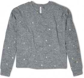 Brilliant-Basics-Print-Sweater-Charcoal on sale