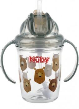 Nuby-Tritan-Weighted-Straw-Flip-It-240mL-Assorted on sale