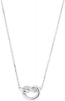 Small-Knots-Necklace-with-Diamonds-in-Sterling-Silver on sale