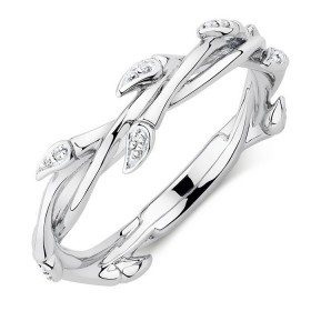 Willow-Ring-with-Diamonds-in-Sterling-Silver on sale