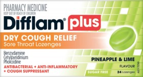 Difflam-Plus-Dry-Cough-Relief-Sore-Throat-Lozenges-Pineapple-Lime-24-Lozenges on sale