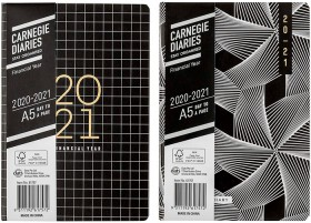 Carnegie-2021-Day-To-Page-A5-Matte-Design-with-Foil-Diary-Black on sale