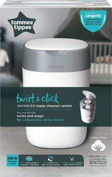Tommee-Tippee-Twist-and-Click-Nappy-Disposal-Unit on sale