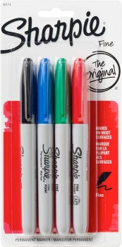 Sharpie-Fine-Permanent-Markers-4-Pack-Multi on sale
