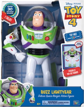 Disney-Pixar-Toy-Story-4-Deluxe-Talking-Buzz-Lightyear-12-Inch-Figure on sale