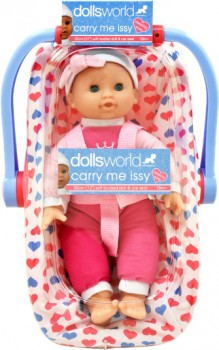 Dollsworld-Car-Seat-Carry-Me-Issy-30cm on sale