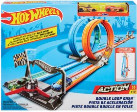 Hot-Wheels-Double-Loop-Dash-Track-Set on sale