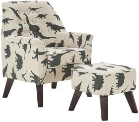 NEW-Sofasaurus-Chair-Ottoman-Set on sale
