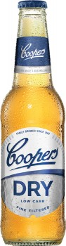 Coopers-Dry-Bottles-355mL on sale