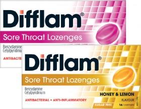 Difflam-Sore-Throat-Lozenges-16-Pack-Range on sale