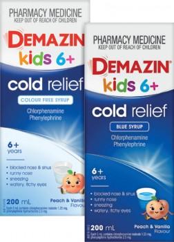 Demazin-Kids-6-Cold-Relief-200mL-Range on sale