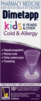 Dimetapp-Kids-6-Years-Over-Cold-Allergy-200mL on sale