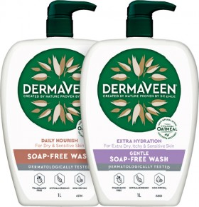 DermaVeen-Daily-Nourish-or-Extra-Hydration-Soap-Free-Wash-1L on sale