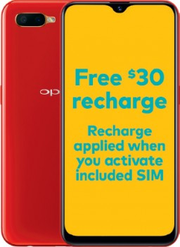 Optus-OPPO-AX5s-Red on sale