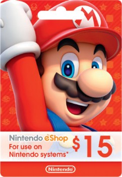 Nintendo-Shop-15-Gift-Card on sale