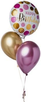 Happy-Birthday-Pink-Gold-Balloon-Bouquet on sale