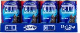 Chum-12-Pack-Dog-Food-Can-1.2kg-Beef on sale