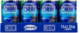 Chum-12-Pack-Dog-Food-Can-1.2kg-Lamb on sale