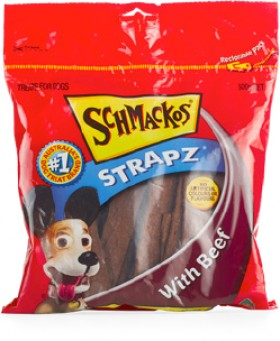 Schmackos-Strapz-500g-Beef on sale