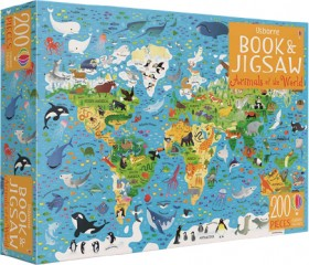 Animals-of-the-World-Book-and-Jigsaw on sale