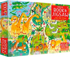 Usborne-Book-And-Jigsaw-At-the-Zoo on sale