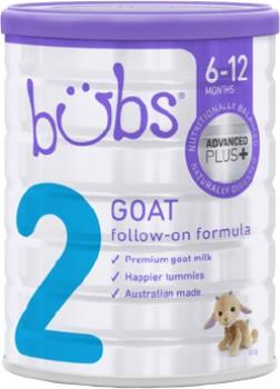 Bubs-Advanced-Plus-Goat-Milk-Follow-On-Formula-Stage-2-800g on sale