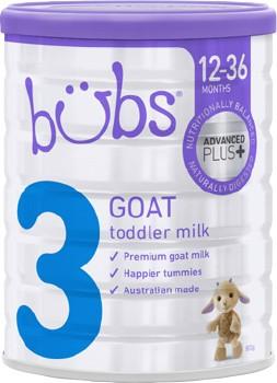 Bubs-Advanced-Plus-Goat-Milk-Toddler-Formula-Stage-3-800g on sale
